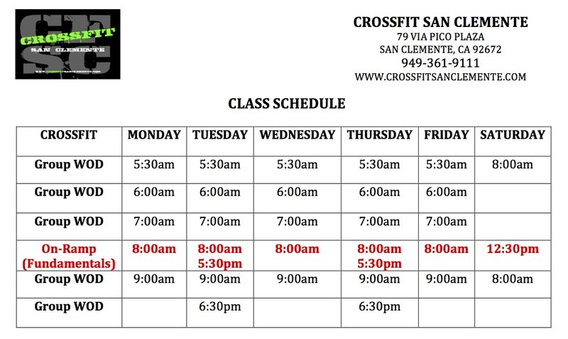 Crossfit Schedule copy